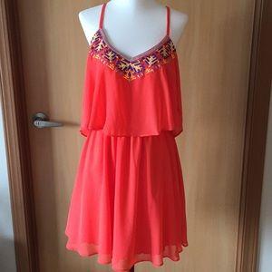 MY MICHELLE Coral Halter Dress